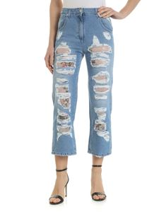 Blumarine - Light blue jeans with sequins