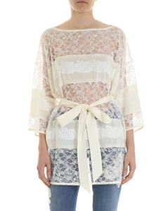Ermanno by Ermanno Scervino - Nude effect top with lace