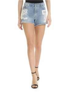 Ermanno by Ermanno Scervino - Denim shorts with lace details
