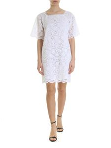 Ermanno by Ermanno Scervino - Short sleeve dress in white macramé