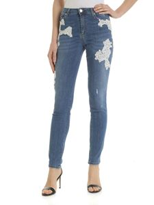Ermanno by Ermanno Scervino - Blue jeans with embroidered details