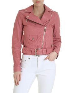 Michael Kors - Pink jacket in crumpled leather