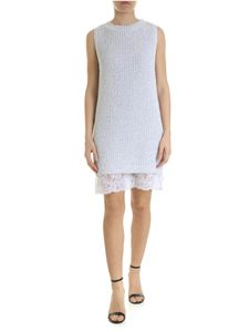 Ermanno by Ermanno Scervino - Lamé knitted dress with lace bottom