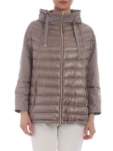 Herno - Beige three-quarters sleeves down jacket