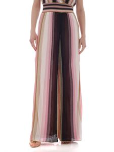 M Missoni - Palazzo trousers in shades of pink lamé
