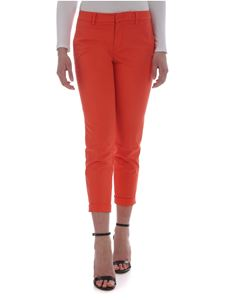 Fay - Capri chino trousers in orange color