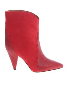 Isabel Marant - Leider red boots