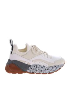 Stella McCartney - Cream colored sneakers with high soles