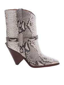 Isabel Marant - Lamsy boots with reptile effect