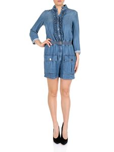 Elisabetta Franchi - Short jumpsuit in blue cambray