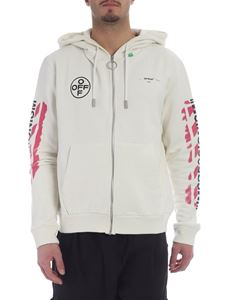 Off-White - Cream Diag Stencil Off-White sweatshirt