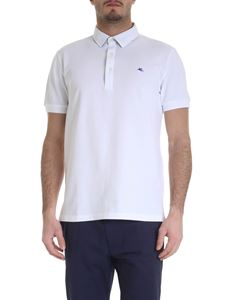 Etro - Etro polo in white piqué cotton