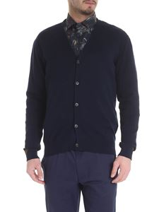Etro - Blue cardigan with Etro buttons