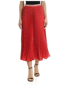 Ermanno by Ermanno Scervino - Red pleated skirt with polka dots