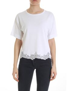 Ermanno by Ermanno Scervino - White boxy pullover with lace