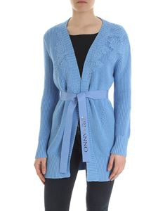 Ermanno by Ermanno Scervino - Light blue cardigan with lace