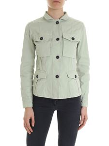 Fay - Field jacket in mint green canvas