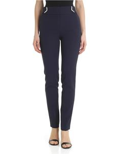 Blugirl - Blue trousers with jewel detail
