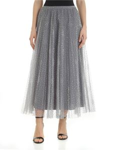 Red Valentino - Pearl grey tulle skirt