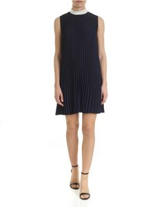 Red Valentino - Dark blue Red Valentino pleated dress