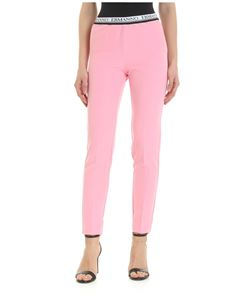 Ermanno by Ermanno Scervino - Pink trousers with logo