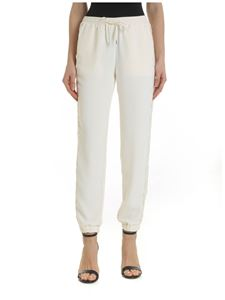 Ermanno by Ermanno Scervino - Pantalone in crepe color crema