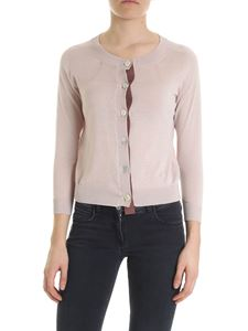 Ballantyne - Powder pink cropped cardigan