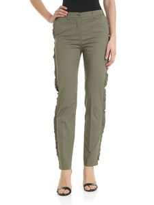 Blugirl - Green ruffled trousers