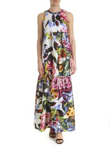 Blugirl - Sleeveless dress with floral print