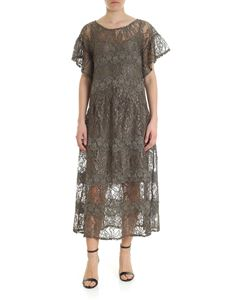 Blugirl - Green rebrodé lace dress