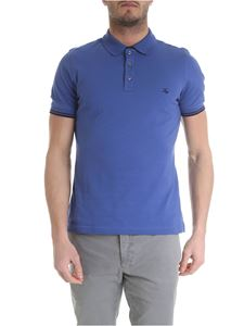 Fay - Blue Fay polo with logo embroidery