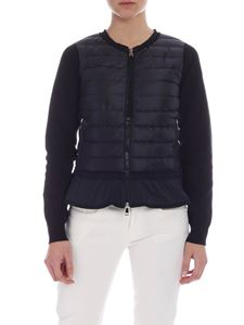 Moncler - Black down padded cardigan