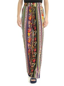 Etro - Etro trousers with floral folk pattern