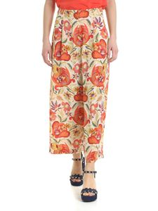 Etro - Crop trousers with floral motif