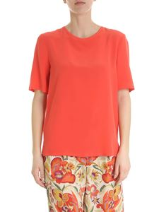 Etro - Etro crew neck t-shirt in coral red color