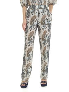 Etro - Ivory color paisley trousers