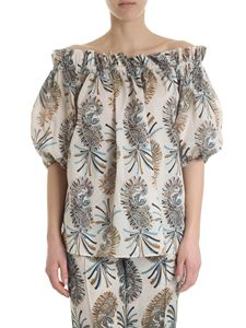Etro - Ivory blouse with paisley pattern