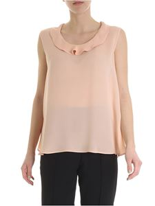 Etro - Etro top in peach pink color with ruffles
