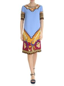 Etro - Etro dress in light blue with africa motif