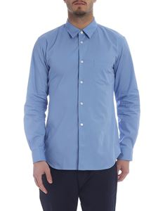 Comme Des Garçons Shirt Boys - Light blue shirt with logo print