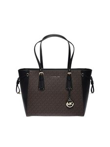 Michael Kors - Medium Voyager tote bag in monogram eco-leather