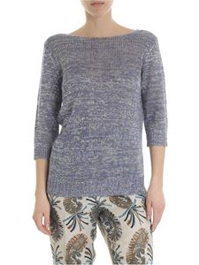 Etro - Light blue and silver lurex sweater