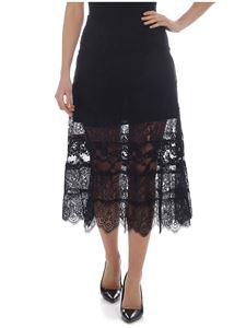 McQ Alexander Mcqueen - McQ lace skirt in black