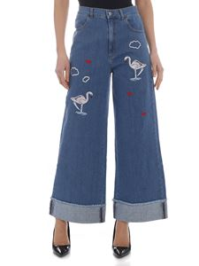 Vivetta - Palagonia embroidered jeans in blue