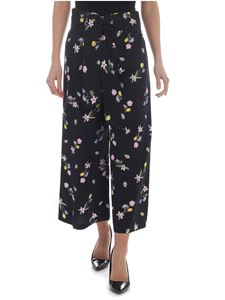 Vivetta - Omega wide trousers in blue with flowers