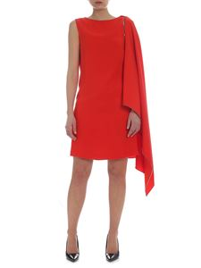 McQ Alexander Mcqueen - Mcq cape dress in red