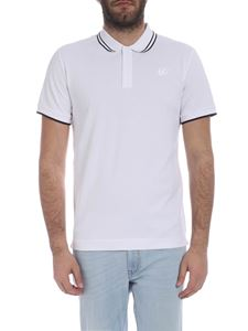 McQ Alexander Mcqueen - McQ polo in white with embroidery