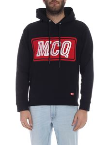 McQ Alexander Mcqueen - McQ hoodie in black with embroidered logo