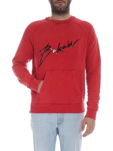 Balmain - Balmain Signature vintage effect sweatshirt in red