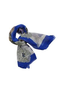 Etro - Bombay blue floral scarf